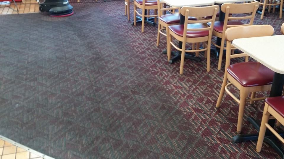 Resturant carpet dirty